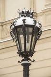 lanterne couverte de neige Images libres de droits