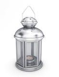 Lanterne décorative argentée dans le style ancien Images libres de droits