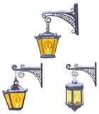Lanterne d'annata della via Fotografia Stock Libera da Diritti