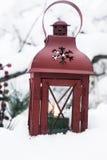 Lanterne d'hiver photographie stock