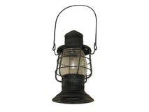 Lanterne de camp de kérosène d'isolement sur le blanc Photographie stock
