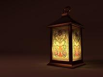 Lanterne de cuivre de vintage Photos stock