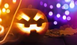 Lanterne de Halloween Jack o Photos stock