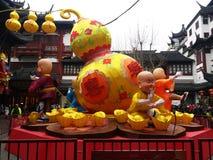 Lanterne de Holigay de folklore de Shang Hai Chinese images libres de droits