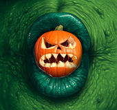 Lanterne de Jack O de monstre de Halloween illustration stock