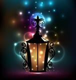 Lanterne de pièce forgéee pour Ramadan Kareem Images libres de droits