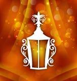 Lanterne de pièce forgéee pour Ramadan Kareem Images stock