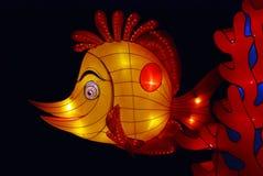 Lanterne de poissons dans les jardins Image stock