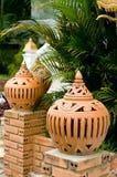 Lanterne de poterie de terre Photographie stock