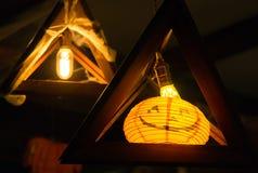 Lanterne de potiron de Veille de la toussaint photographie stock