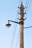 Lanterne de rue de vieux type avec le fil Photos libres de droits