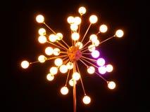 Lanterne de ville de nuit de couleur. Photographie stock libre de droits