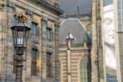 Lanterne de vintage avec la couronne royale sur le dessus amsterdam Photo libre de droits