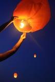 Lanterne del cielo Fotografia Stock