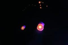 Lanterne del cielo Immagini Stock