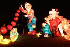 Lanterne del giardino del furong del datang di Xi'an Fotografia Stock Libera da Diritti