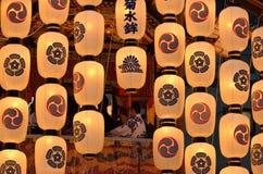 Lanterne del matsuri di estate, Kyoto Giappone di Gion immagini stock