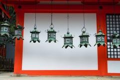 Lanterne del santuario di Kasuga Taisha Immagine Stock