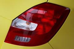 Lanterne dell'automobile moderna gialla Immagini Stock Libere da Diritti