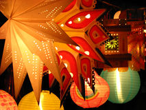 Lanterne della stella Fotografia Stock