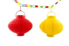 Lanterne di carta Fotografia Stock