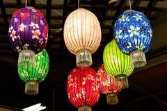 Lanterne di carta cinesi Fotografia Stock