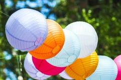 Lanterne di carta colorate Fotografia Stock Libera da Diritti