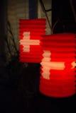 Lanterne di carta svizzere Fotografia Stock