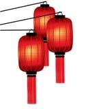 Lanterne di colore rosso del cinese tradizionale Fotografia Stock Libera da Diritti
