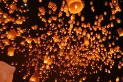 Lanterne di galleggiamento Immagini Stock