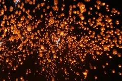 Lanterne di galleggiamento Fotografia Stock Libera da Diritti
