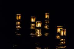 Lanterne di galleggiamento Fotografie Stock Libere da Diritti