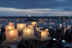 Lanterne di galleggiamento Immagine Stock Libera da Diritti