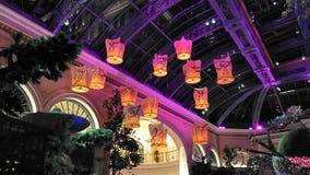 Lanterne di galleggiamento magiche di luce Fotografia Stock Libera da Diritti