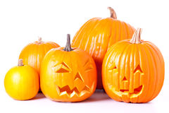 Lanterne di Halloween Jack O Fotografie Stock