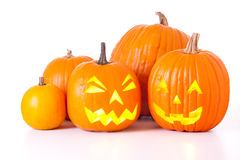 Lanterne di Halloween Jack O Immagine Stock Libera da Diritti