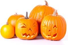 Lanterne di Halloween Jack O Fotografia Stock