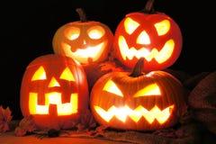Lanterne di Halloween Jack o Immagini Stock