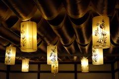Lanterne di Lotus Immagini Stock Libere da Diritti