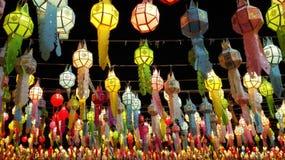 Lanterne di Loykrathong Immagini Stock Libere da Diritti