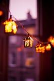 Lanterne di Natale Fotografie Stock