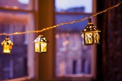 Lanterne di Natale vaghe Immagini Stock
