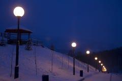 Lanterne di notte Fotografia Stock