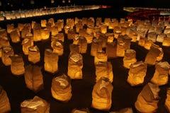Lanterne di notte Fotografie Stock