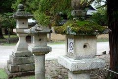 Lanterne di pietra Nara, Giappone Fotografia Stock