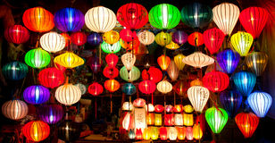 Lanterne di seta Fotografie Stock Libere da Diritti
