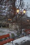 Lanterne en parc Photo stock