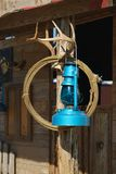 Lanterne et lasso bleus Photo stock