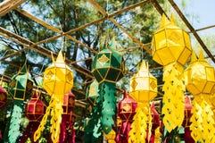Lanterne faite de papier ; La tradition de lanterne handcraft images stock