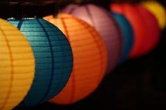 Lanterne a forma di rotonde Fotografia Stock Libera da Diritti